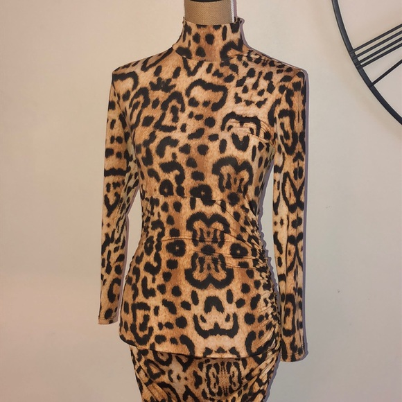 Goodtime Dresses & Skirts - Leopard print mock dress
